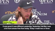"(Subtitled) Tommy Fleetwood ""happy"" with excellent second round at The Open"