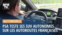 PSA teste ses SUV autonomes sur les autoroutes françaises