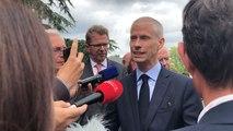 Le ministre de la Culture, Franck Riester, en visite au haras
