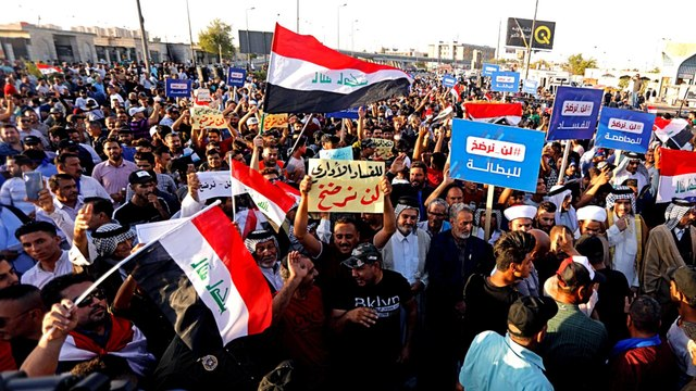 Iraqis protest against rampant corruption and poverty