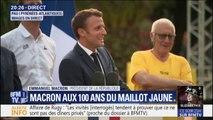 """Macron aux 100 ans du maillot jaune: """"Il faut toujours des premiers de cordée"""""""