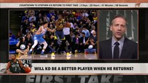 Kevin Durant is going to come back stronger from his Achilles injury – Ryan Hollins _ First Take