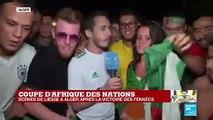 Réactions à Alger après la victoire de l'Algérie en Coupe d'Afrique des nations (1-0)