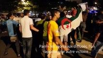 A Roanne, les supporters fêtent la victoire de l'Algérie