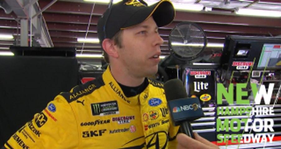 Brad Keselowski wins Busch Pole Award at New Hampshire