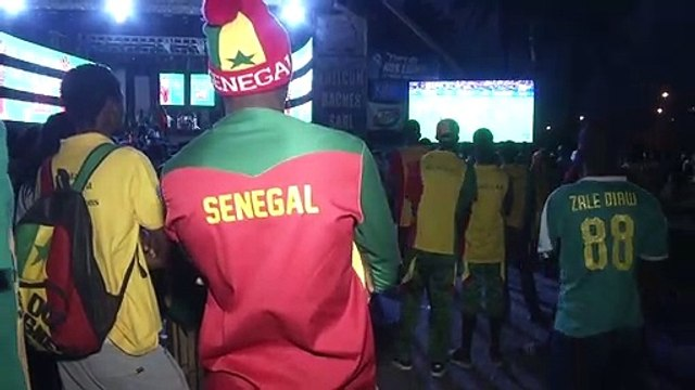 Disappointed Senegal fans react to AFCON final defeat