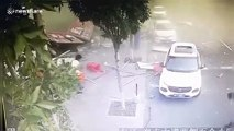 Restaurant in China's Cangzhou explodes due to a gas leak, injuring two people