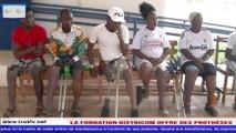 La FONDATION DISTRICOM offre des prothèses aux patients de ''Vivre Debout'' Bouaké.