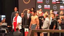 MANNY PACQUIAO vs KEITH THURMAN ALL BUSINESS DURING WEIGH