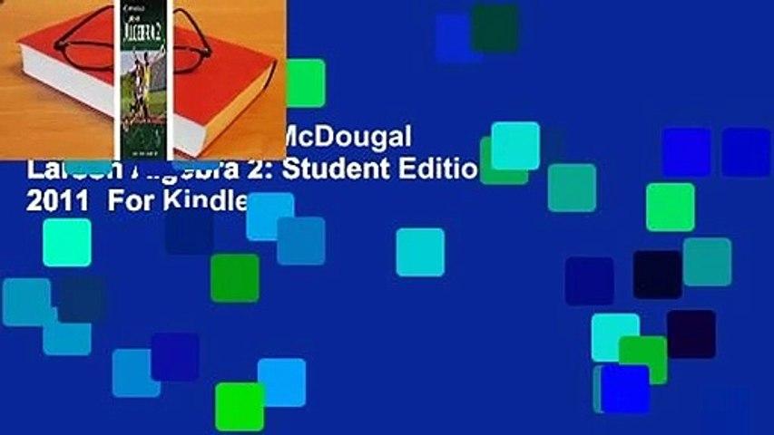 Full E-book  Holt McDougal Larson Algebra 2: Student Edition 2011  For Kindle