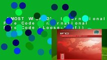 [MOST WISHED]  International Fire Code (International Fire Code (Loose-Leaf))