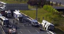 Yavuz Sultan Selim Köprüsü'nde kaza: 5 kişi yaralandı