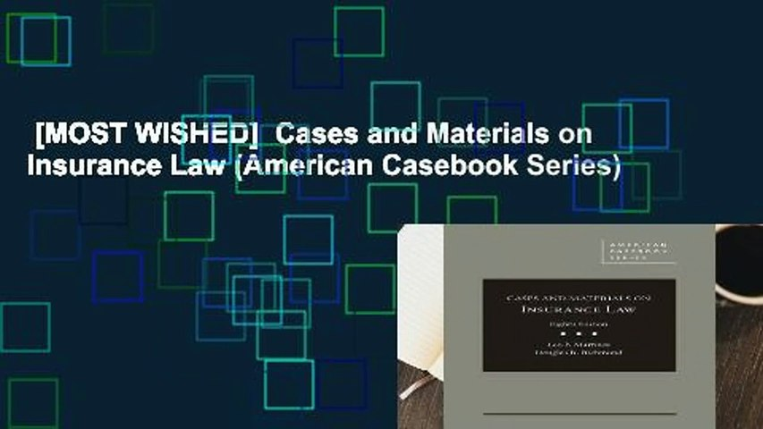 [MOST WISHED]  Cases and Materials on Insurance Law (American Casebook Series)