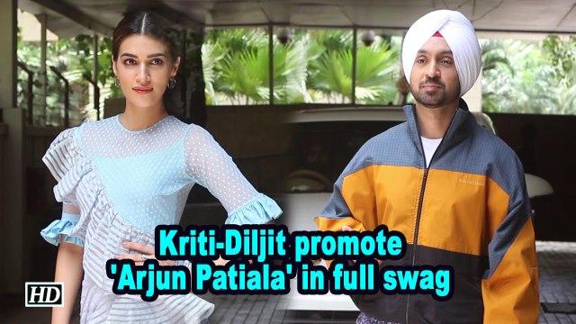 Kriti-Diljit promote 'Arjun Patiala' in full swag