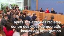 Racisme : leçon de Merkel à Trump sur la grandeur de l'Amérique