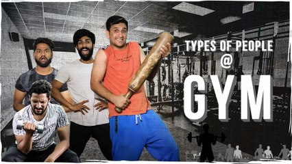 Types of people at Gym || Gymholic Comedy || Kiraak Hyderabadiz