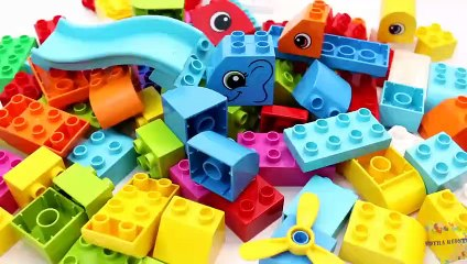 Learn Animals and Fruits with Building Blocks Toys for Children Toddlers
