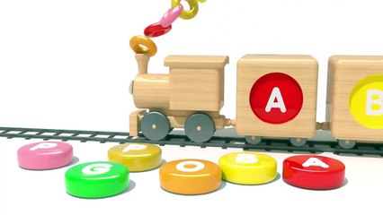 Learn Alphabet  Toy Train and Fruits for Kids