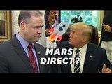 Mars, pas la lune, Trump donne une leçon à la Nasa devant les astronautes d'Apollon 11