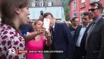 Emmanuel Macron s'offre un bain de foule à Bagnères-de-Bigorre