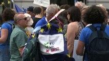 """Anti-Brexit in piazza a Londra per la """"Marcia del cambiamento"""""""