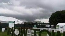 Tornado at Tatton Park flower show near Manchester