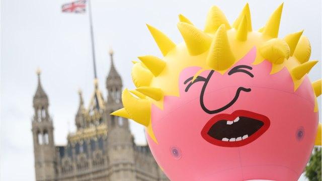 Pro-EU Protest Hoists 'Boris Blimp'