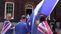 Boris Johnson heckled by protesters outside campaign HQ