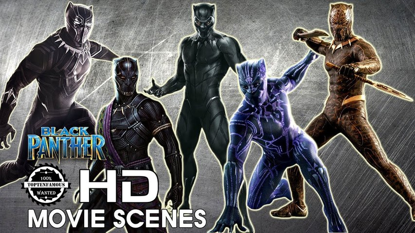 Black Panther's Suits Transformation from Old to New 2018 [Avengers Infinity War]