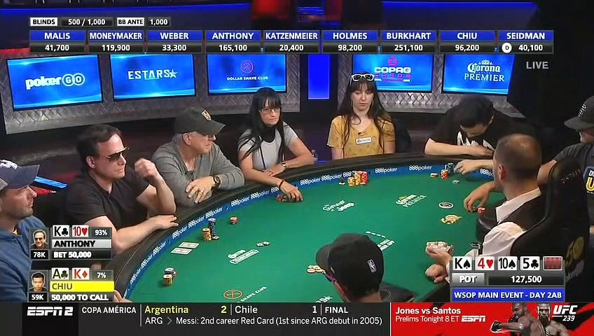 World Series Of Poker 2019 Main Event Day 2 Part 1