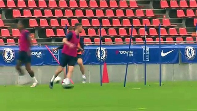 Chelsea train; comment from Abraham, Marcos Alonso