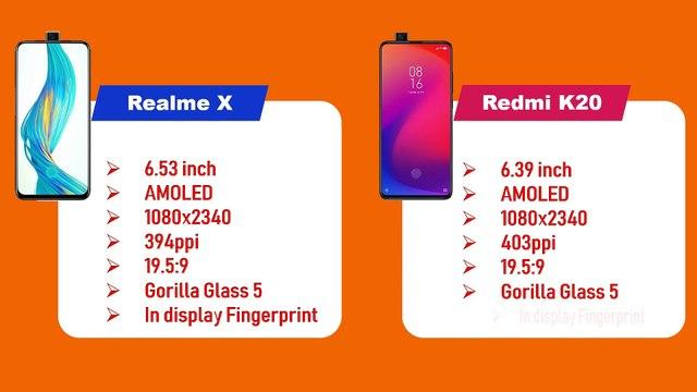 Realme X vs Redmi K20 - Specification Comparison.