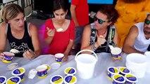 Le concours du plus gros mangeur de cancoillotte à la fête des sports de Larians-et-Munans