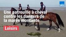 Dans la baie de Somme, des cavaliers veillent à la sécurité des promeneurs