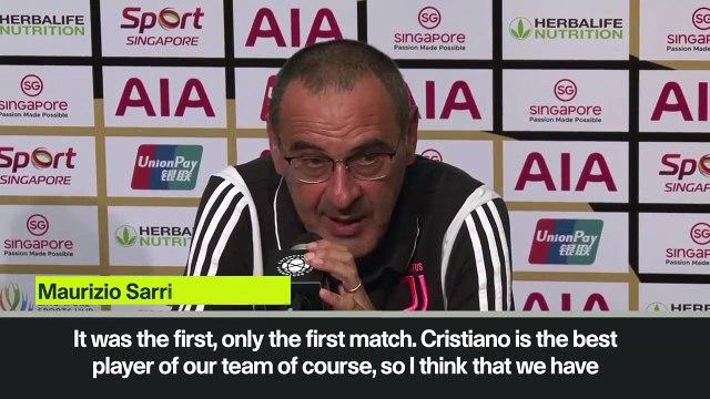 (Subtitled) 'Cristiano Ronaldo is free to play where he wants' - Sarri