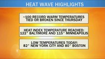 Heat wave ending with one more day of sweltering temperatures