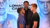 Lomachenko and Campbell go face-to-face ahead of lightweight title fight
