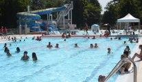 Wégimont : Début de canicule à la piscine