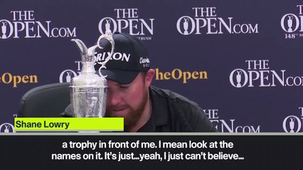 (Subtitled) 'Incredible' Shane Lowry describes winning feeling