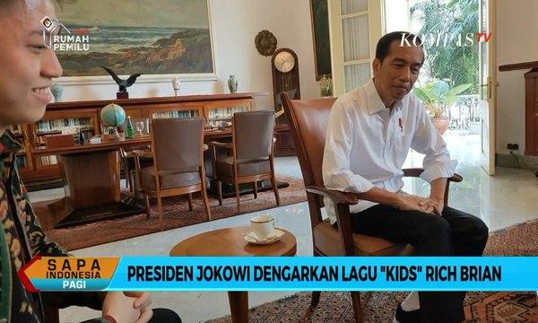 "Beginilah Ekspresi Presiden Jokowi Dengarkan Lagu ""Kids"" Rich Brian"