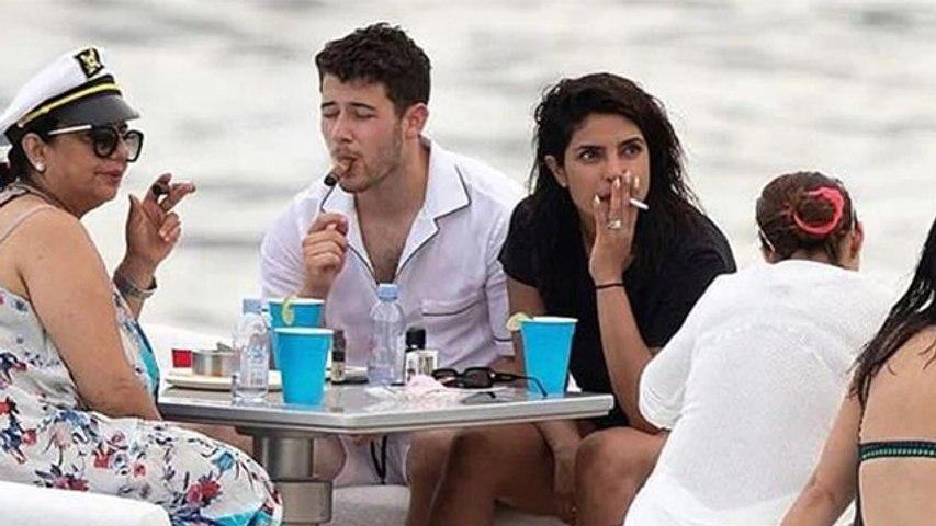 Priyanka Chopra gets trolled for smoking during birthday celebration with Nick Jonas   FilmiBeat