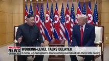 N. Korea-U.S. working-level talks being delayed amid warnings on Seoul-Washington joint exercises from N. Korea