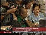Sally Ordinario barred from eating family 'pasalubong'