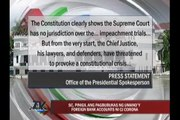 SC stops Senate subpoena of 'Corona foreign money accounts'