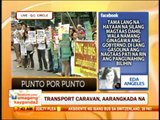 Punto por Punto: Transport groups hold protest caravan
