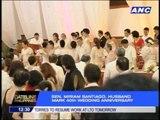 Sen. Miriam Santiago, husband renew wedding vows