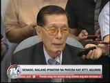 Senate admits CJ bank records, lets hear-no-Miriam lawyer off the hook