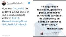 Ceta : Dans une tribune, Nicolas Hulot appelle les députés à ne pas ratifier le traité de libre-échange