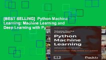 [BEST SELLING]  Python Machine Learning: Machine Learning and Deep Learning with Python,