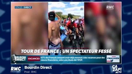 Tour de France 2019 : un coureur met une fessée à un spectateur !